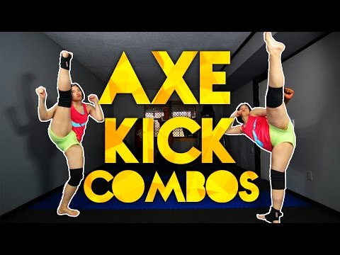 3 Axe Kick Combos for Sparring