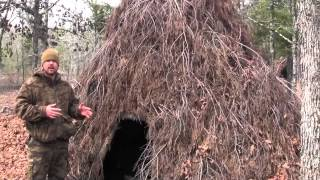 Survival Shelter Debris Hut Variation Part 4
