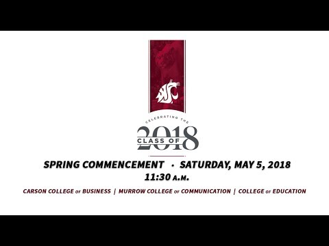 WSU Spring 2018 Commencement - 11:30am