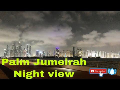 Palm Jumeirah night view