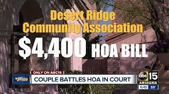 Couple heads to court in HOA late fee case