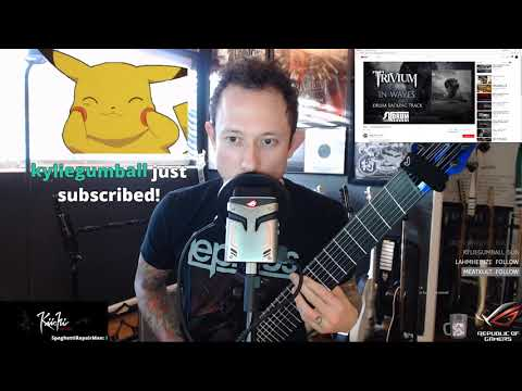 IN WAVES 8 STRING DJENT LIVE ON TWITCH! (FYI: Audio sync isn't perfect from live to replay!)