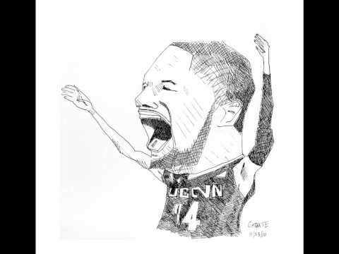 UCONN Huskies Alex Oriakhi Sketch