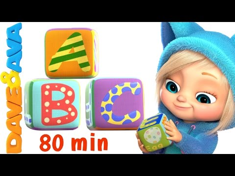 ABC Song Nursery Rhymes Collection | British Zed Version | YouTube Nursery Rhymes from Dave and Ava
