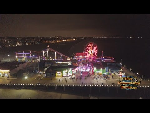 Elite Commercial Works - Santa Monica Pier 4K Drone Fly By