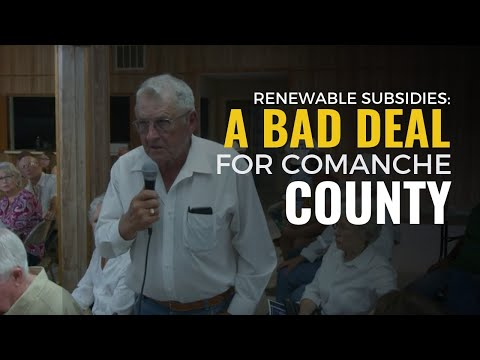 Renewable Subsidies: A Bad Deal for Comanche County