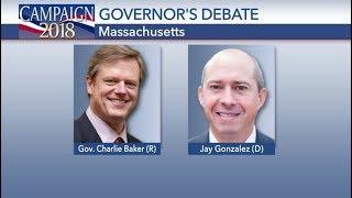 Massachusetts Gubernatorial Debate Charlie Baker vs Jay Gonzalez Oct 17 2018