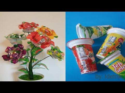 Ide Kreatif Dari Barang Bekas | Menggunakan Kembali | Gelas Plastik Minuman