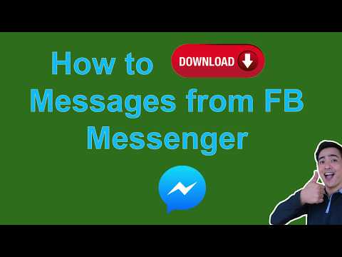 How To Download Messages From Facebook Messenger In 2020