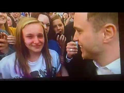 Olly Murs Troublemaker  Girl Goes Crazy For X Factor idol in 2012  Watch to End  Dermot Reaction