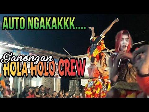 Lawakan Lucu Ganongan Hola Holo Crew   SATRIA BARU JAYA Live Balong Mojo Gedong Ombo Ploso Jombang