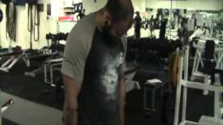 Aussiestrength timed hold comp with 100lb dumbells