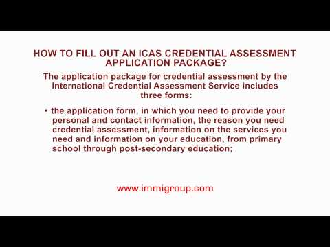 How to fill out an ICAS credential assessment application package