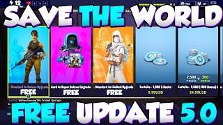 *NEW* FORTNITE SAVE THE WORLD FREE GLITCH UPDATE 5.0 - Fortnite Save The World FREE SEASON 5!
