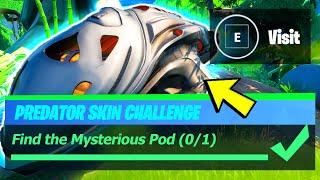 Find Mysterious Pod Location - Fortnite Predator Secret Skin Challenge!