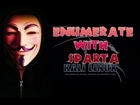 How to Enumerate with Sparta in Kali Linux
