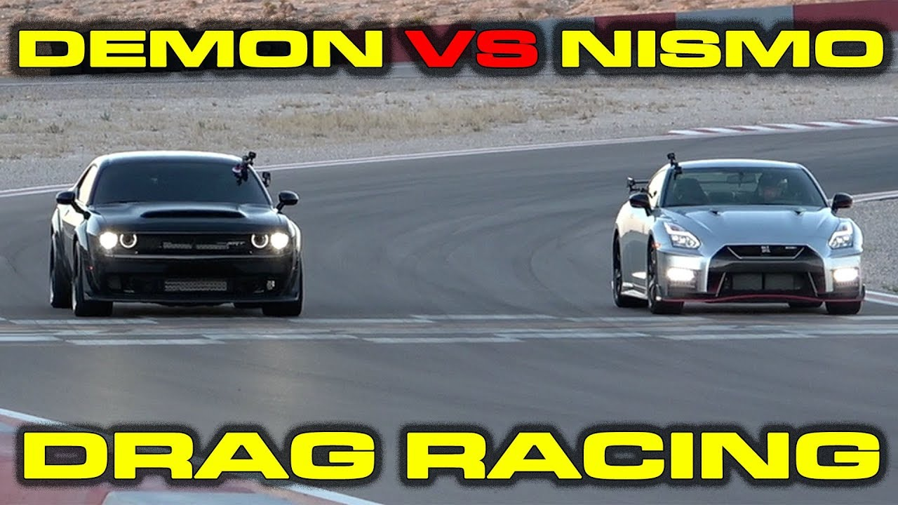 Dodge Demon vs Nissan GT-R Nismo Drag Racing at Speed Vegas
