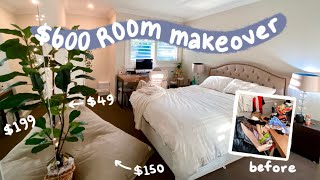 small room makeover ($600 ONLY budget) 🛏️🌿✨