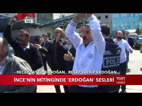 muharrem ince'nin mitinginde erdoğan sesleri