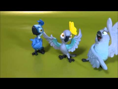 Rio 2 Movie Toys Character Set Tiago, Carla, and Bia
