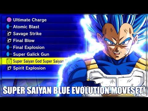Full 'Super Saiyan Blue Evolution' Themed Moveset! | Dragon Ball Xenoverse 2