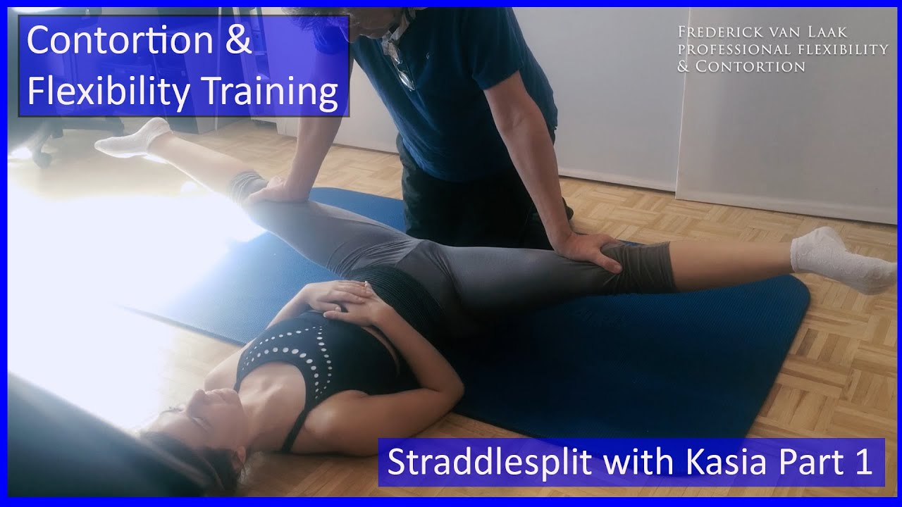 87 Flexyart Contortion Training: Straddlesplit Part 1  - Also for Yoga, Pole, Ballet, Dance People