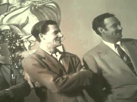 Jorge Negrete visita los estudios del Noticiero Nacional (1949)