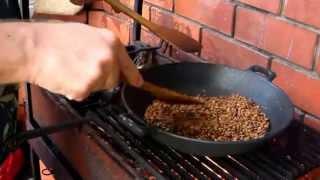 Зеленый кофе: обжарка на открытом огне