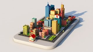 Low Poly City in Cinema 4D
