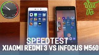 Vật Vờ| So sánh Xiaomi Redmi 3 và Infocus M560: hiệu năng, tốc độ, quản lí ram