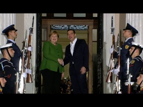 Merkel visits Athens to promote post-austerity ties