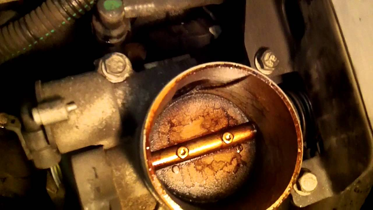 Oil leaking in throttle body and air tube in chevy cavalier  YouTube