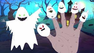 привидение Палец семья детского стишка счастливого Хэллоуина Halloween Songs Ghost Finger Family