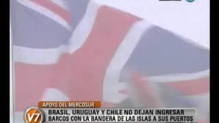 Visión Siete: Apoyo del Mercosur: No dejan ingresar barcos con bandera de Malvinas a sus puertos