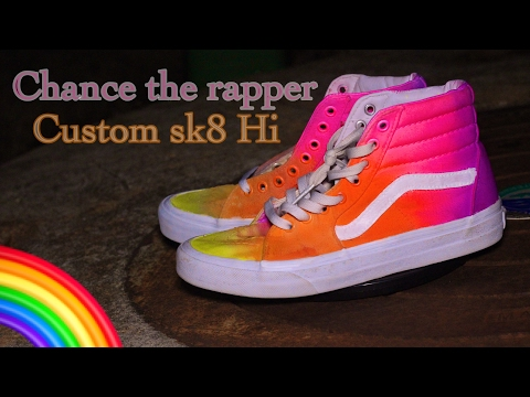 Custom Vans sk8-Hi | Chance The Rapper | Acid Rap | Question2Tamia
