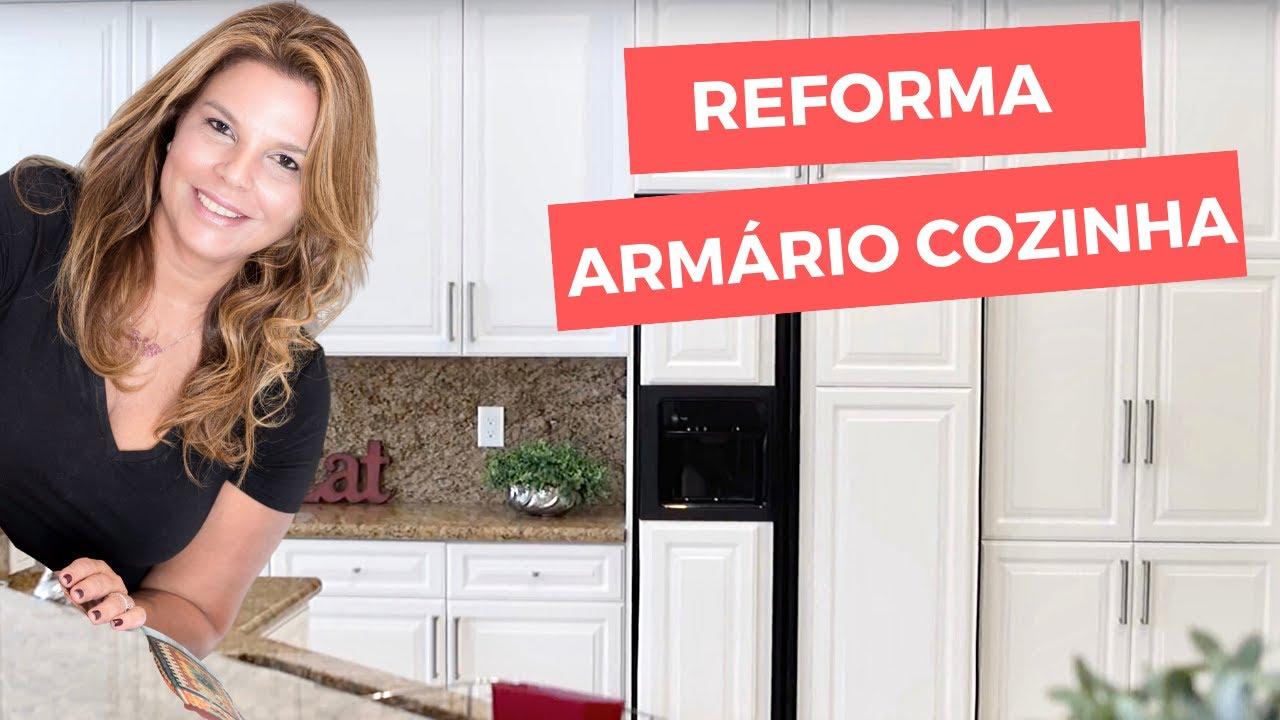 Como renovar um arm rio de cozinha pintando s as portas - Como hacer puertas de armario ...
