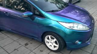 Жидкая резина + лак.(Ford Fiesta в жидкой резине + лак. Покрашена: декабрь 2014г. Студия: Pitlane Colors Стоимость: 50.000 рублей (на дату: 10.12.2014), 2015-08-28T16:58:51.000Z)