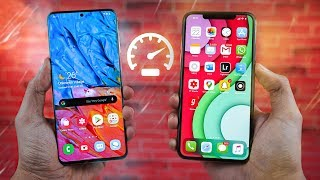 Samsung Galaxy S20 Plus vs iPhone 11 Pro Max - Speed Test!