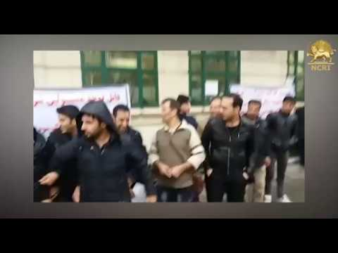TEHRAN, Iran, Feb. 24, 2018. Protest gathering by personnel of 'Azar Ahab' Metro 6 company