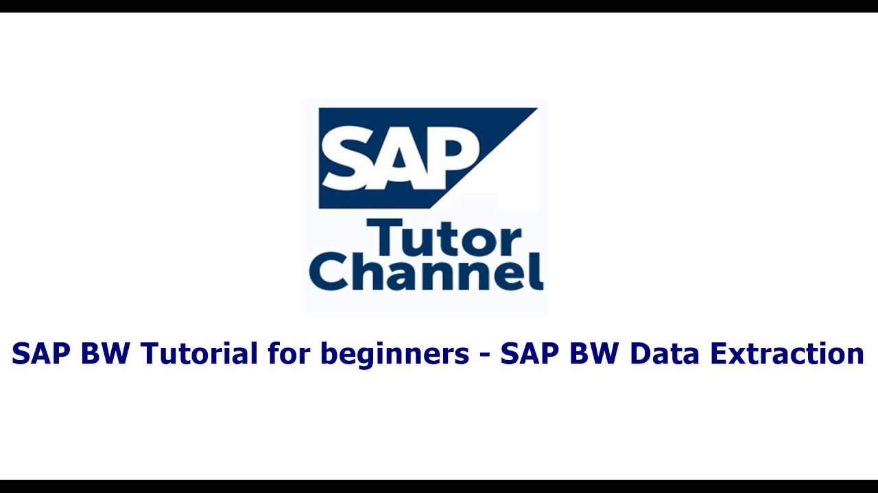 SAP BW Tutorial for beginners   SAP BW Data Extraction
