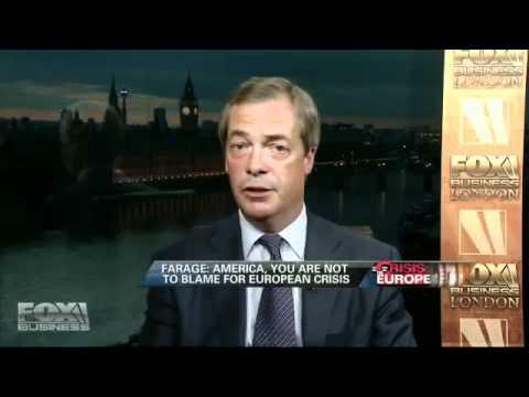 Nigel Farage on FOX NEWS America -  EUROLAND One Giant Ponzi Scheme