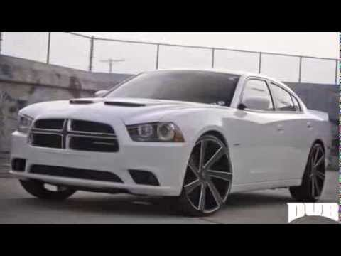 dub wheels dodge charger s133 directa youtube - Dodge Charger 2013 White Black Rims