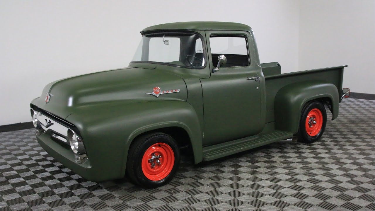 1956 ford f100 green