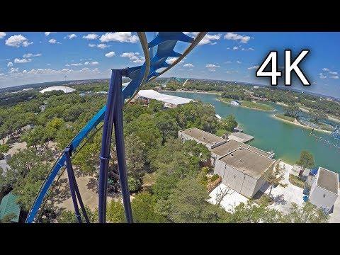 Great White front seat on-ride 4K POV SeaWorld San Antonio