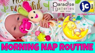 ☀️Berenguer Boutique Realistic Baby Doll Morning Nap Routine! 🍼Paradise Galleries Toy Stroller!👍🏼