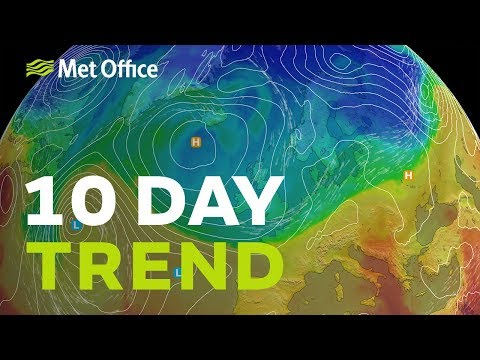 10 Day Trend – Wet For Some Then Colder For All 23/10/19