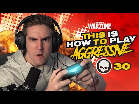 THIS IS HOW TO PLAY AGGRESSIVE IN WARZONE! FASTEST 30 KILLS EVER! (Warzone)