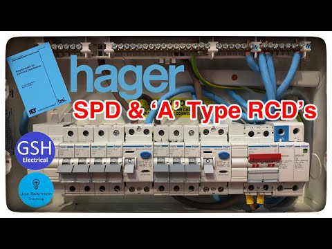 Hager 18th Edition Consumer Unit With Built In Spd A Type 100 Amp Rcd S To Comply With Bs7671 Youtube