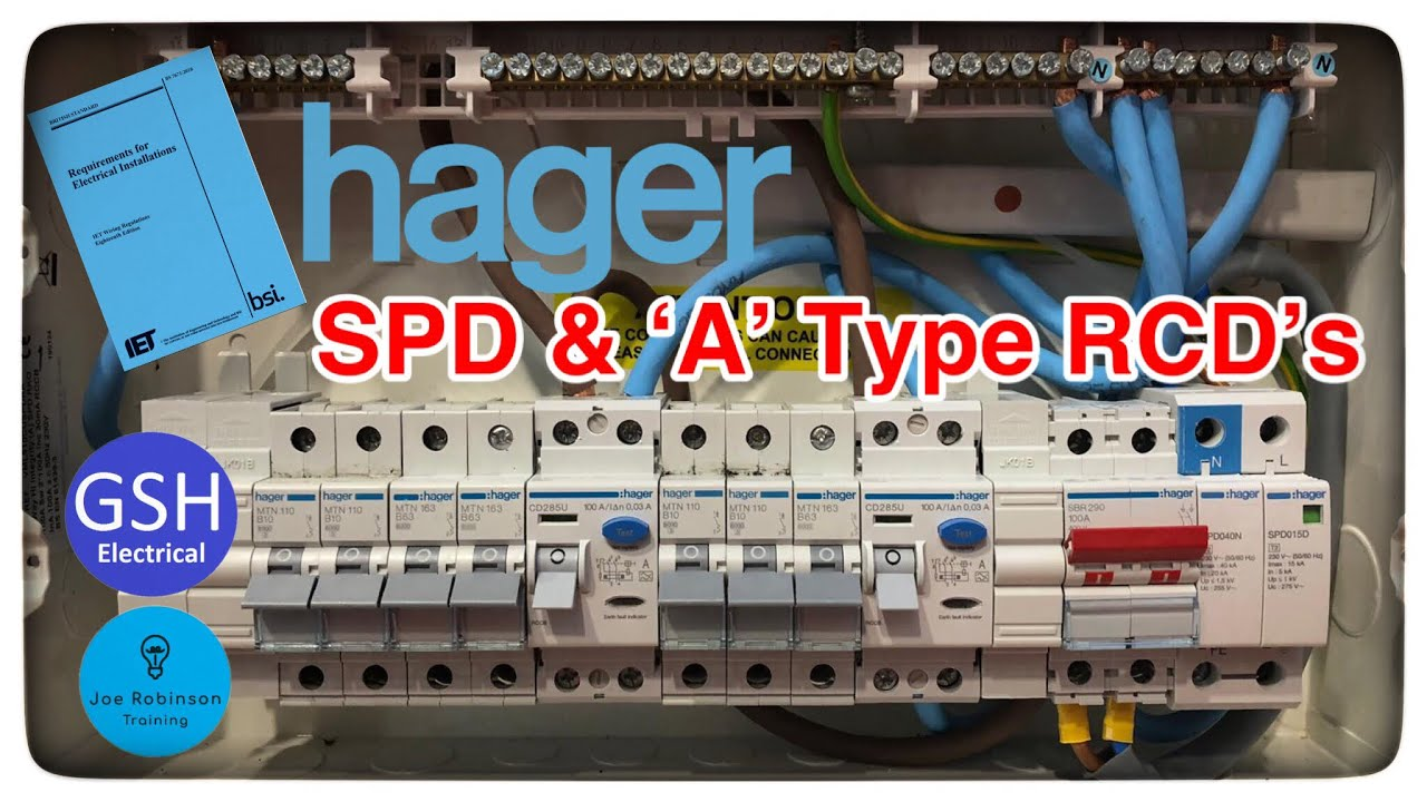 100 Amp Wiring Diagram Hager 18th Edition Consumer Unit With Built In Spd A Type