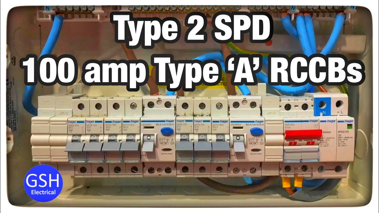Hager 18th Edition Consumer    Unit    With Built in SPD  A Type